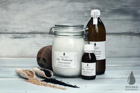 Olej kokosowy 1000ml + Olej lniany 500ml + Olej z czarnuszki 100ml