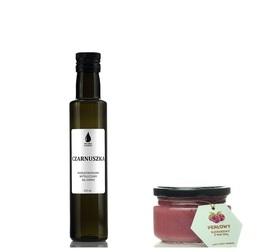 Naturalne produkty na odporność Zestaw Olej lniany + olej z czarnuszki